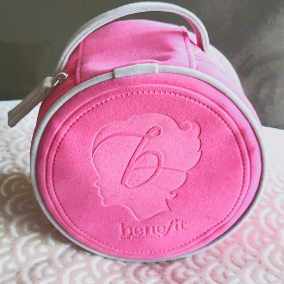 Benefit pink cosmetic bag